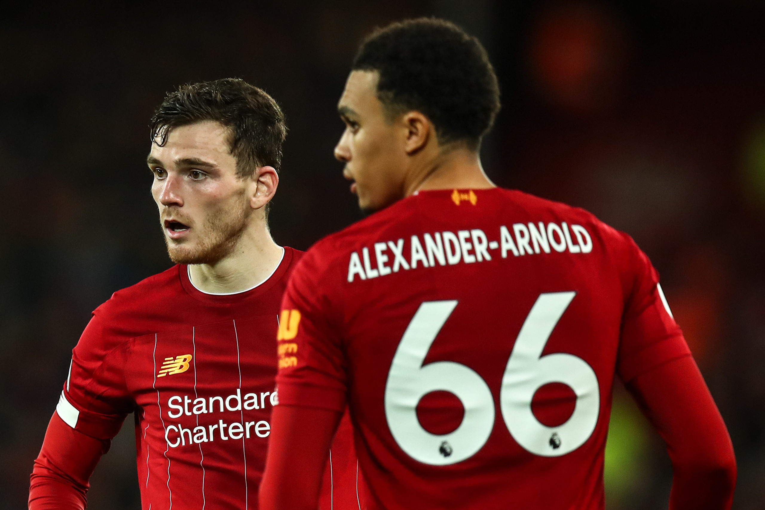 Andy Robertson and Trent Alexander-Arnold.