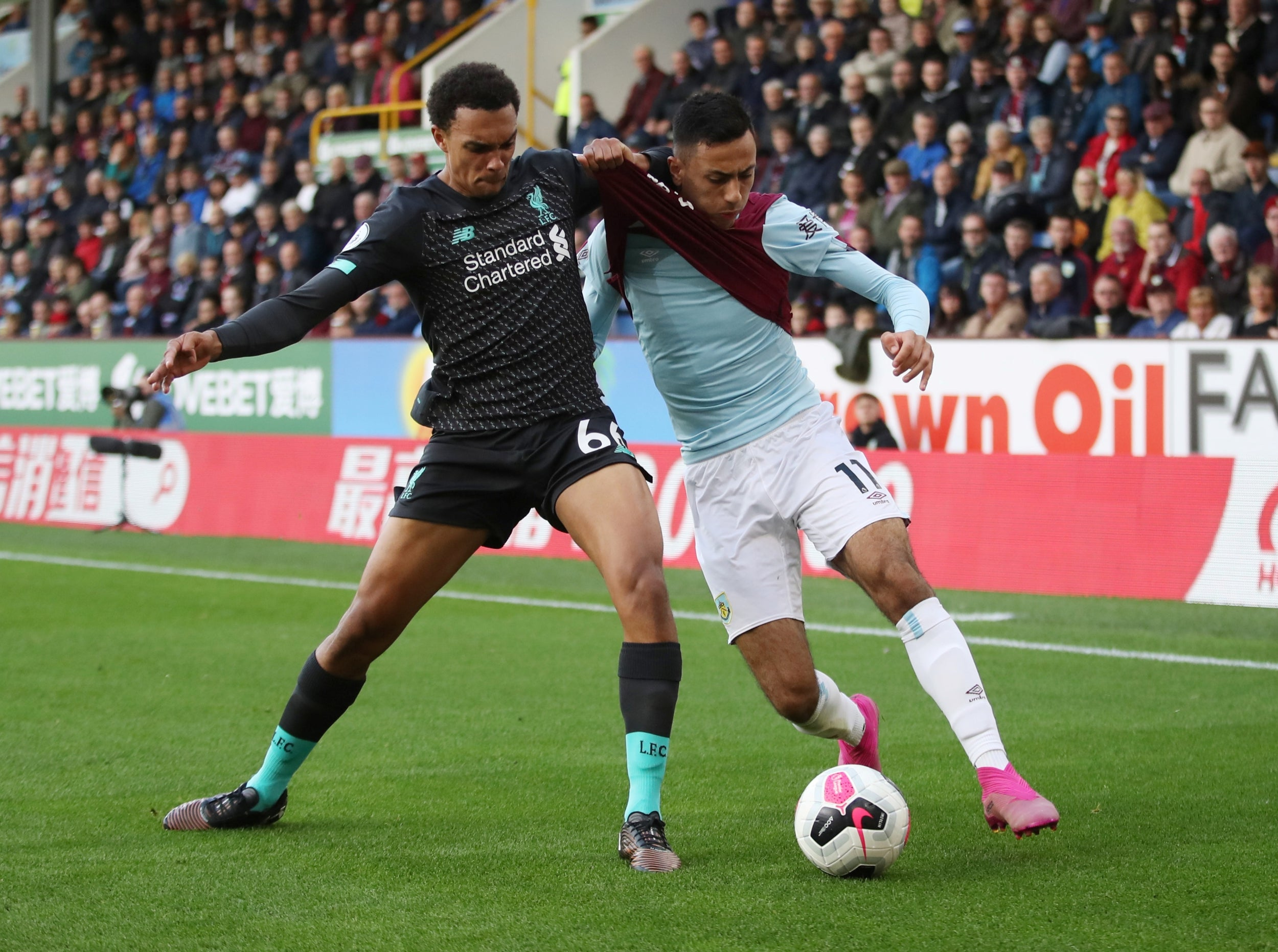 Trent Alexander-Arnold and Dwight McNeil.
