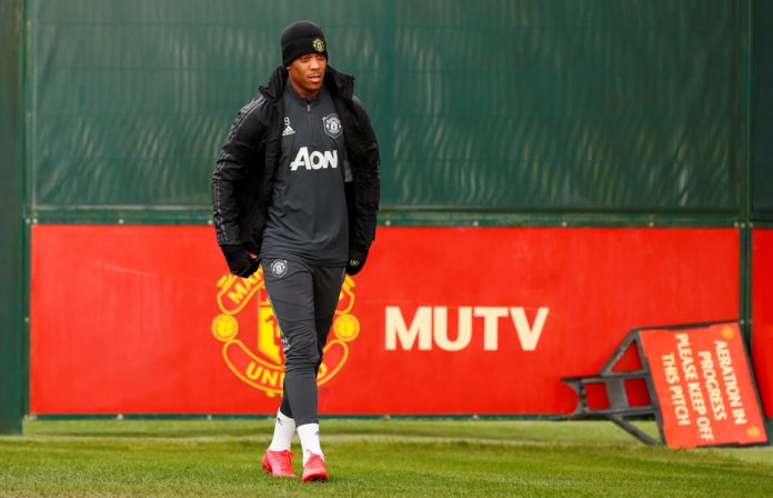 Anthony Martial in training, Manchester United