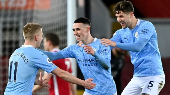 Foden scores a sensational goal at Anfield